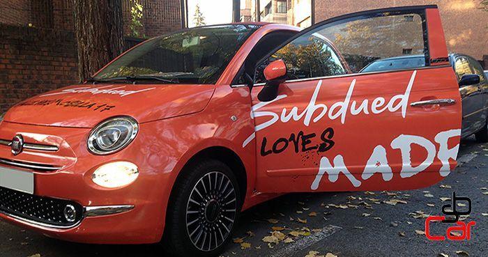 Publicidad en vehículos, campaña de Subdued _SerbeCar