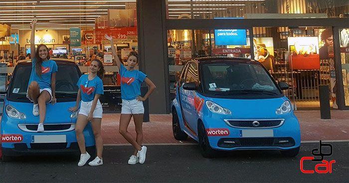 Publicidad en vehículos, campaña de Worten _SerbeCar