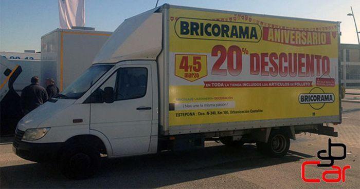 Publicidad en camiones, campaña de Bricorama _SerbeCar