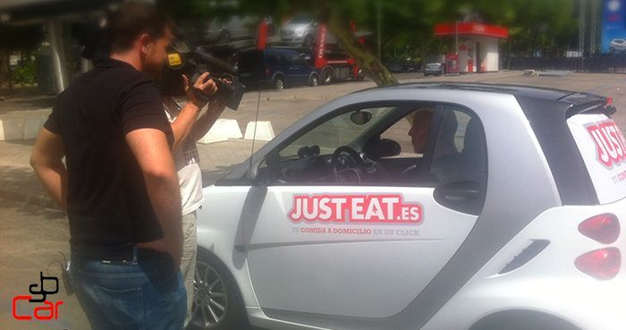 Publicidad en coches, campaña de Just Eat _SerbeCar
