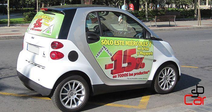 Publicidad en coches, campaña de Leroy Merlin_SerbeCar
