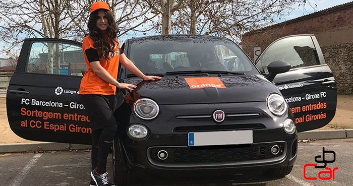 Publicidad en coches, campaña de Orange _SerbeCar