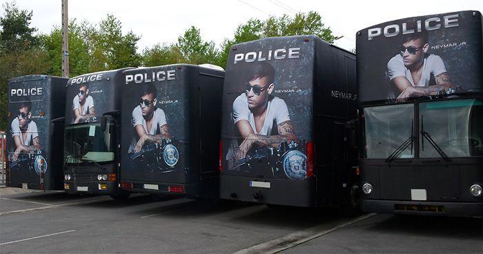 Publicidad en autobuses, campaña de Police _SerbeCar